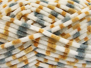 Fiber Content 100% Micro Fiber, White, Light Brown, Brand ICE, Grey, Yarn Thickness 4 Medium  Worsted, Afghan, Aran, fnt2-53114
