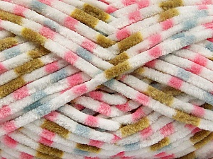 Fiber Content 100% Micro Fiber, White, Pink, Olive Green, Brand ICE, Blue, Yarn Thickness 4 Medium  Worsted, Afghan, Aran, fnt2-53130