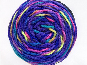 Fiber Content 80% Acrylic, 20% Polyamide, Purple, Neon Colors, Brand ICE, Yarn Thickness 4 Medium  Worsted, Afghan, Aran, fnt2-53214