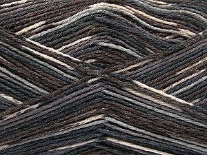 Fiber Content 50% Superwash Merino Wool, 25% Bamboo, 25% Polyamide, Brand ICE, Grey Shades, Brown Shades, Yarn Thickness 1 SuperFine  Sock, Fingering, Baby, fnt2-53333