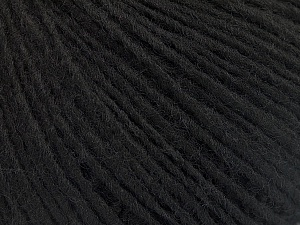 Fiber Content 50% Wool, 50% Acrylic, Brand ICE, Black, Yarn Thickness 3 Light  DK, Light, Worsted, fnt2-53679