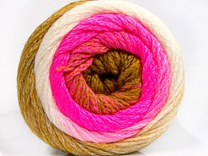 Fiber Content 90% Acrylic, 10% Polyamide, Olive Green, Neon Pink, Brand ICE, Cream, Yarn Thickness 4 Medium  Worsted, Afghan, Aran, fnt2-53720