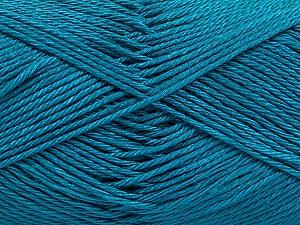 Fiber Content 100% Mercerised Cotton, Turquoise, Brand ICE, Yarn Thickness 2 Fine  Sport, Baby, fnt2-53787