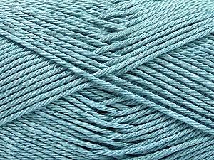 Fiber Content 100% Mercerised Cotton, Light Blue, Brand ICE, Yarn Thickness 2 Fine  Sport, Baby, fnt2-53795