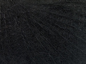 Knitted as 4 ply Fiber Content 40% Polyamide, 30% Kid Mohair, 30% Acrylic, Brand ICE, Black, Yarn Thickness 1 SuperFine  Sock, Fingering, Baby, fnt2-53872