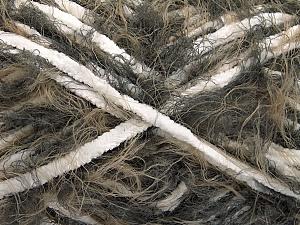 Fiber Content 70% Micro Fiber, 30% Polyamide, White, Brand ICE, Brown Shades, Yarn Thickness 5 Bulky  Chunky, Craft, Rug, fnt2-54197