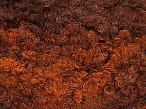 Fiber Content 59% Acrylic, 27% Wool, 14% Polyamide, Brand ICE, Copper, Brown Shades, Yarn Thickness 6 SuperBulky  Bulky, Roving, fnt2-54342