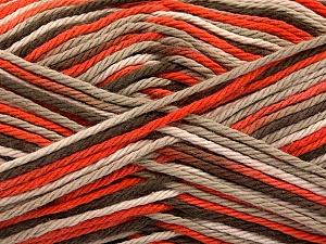 Fiber Content 100% Cotton, Orange, Light Camel, Brand ICE, Cream, Brown, Yarn Thickness 3 Light  DK, Light, Worsted, fnt2-54350