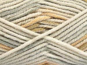 Fiber Content 80% Acrylic, 20% Polyamide, White, Light Grey, Khaki, Brand ICE, Beige, Yarn Thickness 5 Bulky  Chunky, Craft, Rug, fnt2-54414