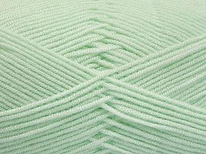 Fiber Content 50% Bamboo, 50% Acrylic, Mint Green, Brand ICE, Yarn Thickness 2 Fine  Sport, Baby, fnt2-54434