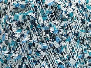 Fiber Content 60% Polyamide, 40% Polyester, White, Brand ICE, Blue Shades, fnt2-54483