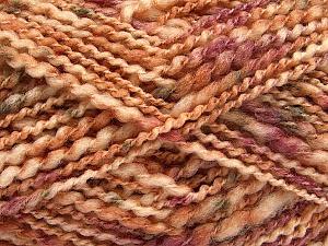 Fiber Content 60% Superwash Wool, 40% Acrylic, Pink, Light Brown, Brand ICE, Cream, Yarn Thickness 5 Bulky  Chunky, Craft, Rug, fnt2-54565