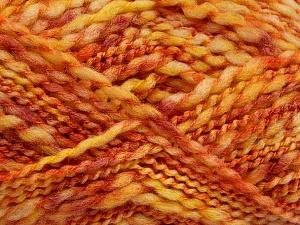 Fiber Content 60% Superwash Wool, 40% Acrylic, Yellow, Pink, Orange, Brand ICE, Yarn Thickness 5 Bulky  Chunky, Craft, Rug, fnt2-54566