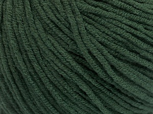 Fiber Content 50% Acrylic, 50% Cotton, Brand ICE, Dark Green, Yarn Thickness 3 Light  DK, Light, Worsted, fnt2-54667