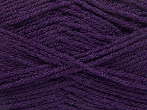 Worsted  Fiber Content 100% Acrylic, Purple, Brand Ice Yarns, Yarn Thickness 4 Medium  Worsted, Afghan, Aran, fnt2-54670