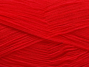 Very thin yarn. It is spinned as two threads. So you will knit as two threads. Yardage information is for only one strand. Fiber Content 100% Acrylic, Brand ICE, Dark Fuchsia, Yarn Thickness 1 SuperFine  Sock, Fingering, Baby, fnt2-54709