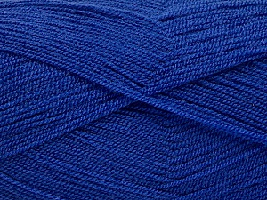 Very thin yarn. It is spinned as two threads. So you will knit as two threads. Yardage information is for only one strand. Fiber Content 100% Acrylic, Purple, Brand ICE, Yarn Thickness 1 SuperFine  Sock, Fingering, Baby, fnt2-54717