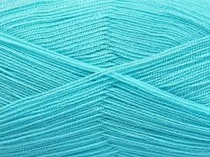 Very thin yarn. It is spinned as two threads. So you will knit as two threads. Yardage information is for only one strand. Fiber Content 100% Acrylic, Turquoise, Brand Ice Yarns, Yarn Thickness 1 SuperFine  Sock, Fingering, Baby, fnt2-54725