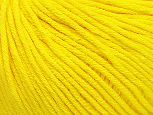 Global Organic Textile Standard (GOTS) Certified Product. CUC-TR-017 PRJ 805332/918191 Fiber Content 100% Organic Cotton, Yellow, Brand ICE, Yarn Thickness 3 Light  DK, Light, Worsted, fnt2-54731