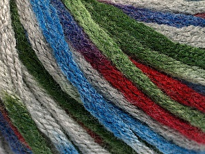 Fiber Content 50% Wool, 50% Acrylic, Brand ICE, Grey, Green, Burgundy, Blue, Yarn Thickness 6 SuperBulky  Bulky, Roving, fnt2-54767