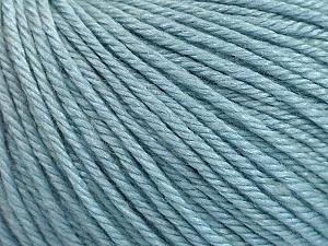Fiber Content 50% Silk, 30% Merino Superfine, 20% Cashmere, Brand ICE, Baby Blue, Yarn Thickness 3 Light  DK, Light, Worsted, fnt2-54791