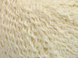 Fiber Content 42% Wool, 33% Acrylic, 19% Alpaca, 1% Elastan, Brand ICE, Cream, Yarn Thickness 3 Light  DK, Light, Worsted, fnt2-54823