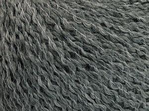Fiber Content 42% Wool, 33% Acrylic, 19% Alpaca, 1% Elastan, Brand ICE, Grey, Yarn Thickness 3 Light  DK, Light, Worsted, fnt2-54824