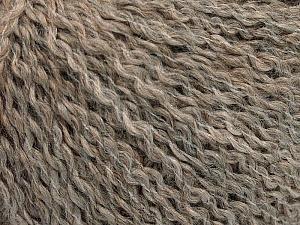 Fiber Content 42% Wool, 33% Acrylic, 19% Alpaca, 1% Elastan, Brand ICE, Beige Melange, Yarn Thickness 3 Light  DK, Light, Worsted, fnt2-54825