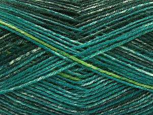 Fiber Content 75% Superwash Wool, 25% Polyamide, Brand Ice Yarns, Green Shades, fnt2-54878