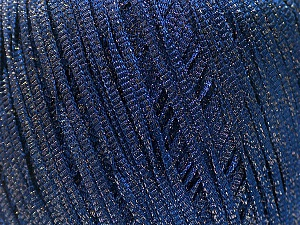Fiber Content 68% Viscose, 32% Metallic Lurex, Navy, Brand ICE, Yarn Thickness 3 Light  DK, Light, Worsted, fnt2-54904