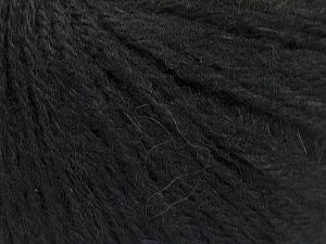 Fiber Content 43% Acrylic, 4% PBT, 36% Alpaca Superfine, 17% Merino Wool, Brand ICE, Black, Yarn Thickness 2 Fine  Sport, Baby, fnt2-54982