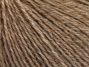 Fiber Content 43% Acrylic, 4% PBT, 36% Alpaca Superfine, 17% Merino Wool, Light Brown Melange, Brand ICE, Yarn Thickness 2 Fine  Sport, Baby, fnt2-54985