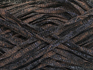 Fiber Content 82% Viscose, 18% Polyester, Brand ICE, Brown, Black, Yarn Thickness 5 Bulky  Chunky, Craft, Rug, fnt2-55003