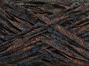 Fiber Content 82% Viscose, 18% Polyester, Brand ICE, Copper, Black, Yarn Thickness 5 Bulky  Chunky, Craft, Rug, fnt2-55004