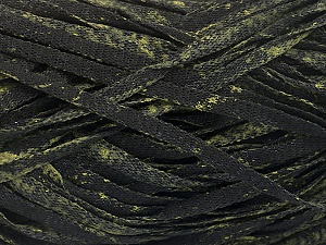 Fiber Content 82% Viscose, 18% Polyester, Brand ICE, Dark Green, Black, Yarn Thickness 5 Bulky  Chunky, Craft, Rug, fnt2-55005