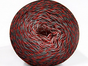 Fiber Content 50% Acrylic, 50% Cotton, White, Red, Brand ICE, Grey Shades, Black, Yarn Thickness 2 Fine  Sport, Baby, fnt2-55070