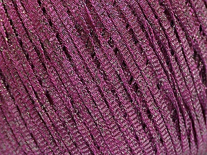 Fiber Content 68% Viscose, 32% Metallic Lurex, Purple, Brand ICE, Yarn Thickness 3 Light  DK, Light, Worsted, fnt2-55101