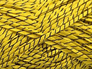 Fiber Content 100% Acrylic, Yellow, Brand ICE, Black, fnt2-55121