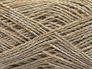 Fiber Content 35% Cotton, 35% Acrylic, 30% Viscose, Brand ICE, Beige Melange, Yarn Thickness 2 Fine  Sport, Baby, fnt2-55185