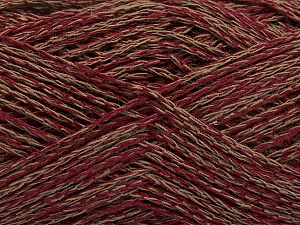 Fiber Content 35% Cotton, 35% Acrylic, 30% Viscose, Brand ICE, Camel, Burgundy, Yarn Thickness 2 Fine  Sport, Baby, fnt2-55191