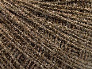 Fiber Content 50% Merino Wool, 25% Alpaca, 25% Acrylic, Brand ICE, Brown, Yarn Thickness 2 Fine  Sport, Baby, fnt2-55200