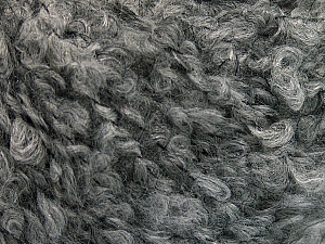 Fiber Content 45% Acrylic, 25% Wool, 20% Mohair, 10% Polyamide, Brand ICE, Grey, Yarn Thickness 4 Medium  Worsted, Afghan, Aran, fnt2-55224