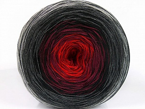 Fiber Content 50% Acrylic, 50% Cotton, Red, Brand ICE, Grey Shades, Burgundy, Black, Yarn Thickness 2 Fine  Sport, Baby, fnt2-55241