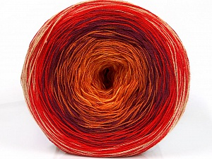 Fiber Content 50% Acrylic, 50% Cotton, Yellow, Red, Orange, Maroon, Brand ICE, Yarn Thickness 2 Fine  Sport, Baby, fnt2-55246