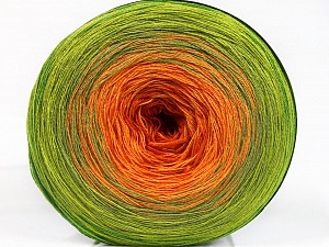 Fiber Content 50% Cotton, 50% Acrylic, Orange Shades, Brand ICE, Green Shades, Yarn Thickness 2 Fine  Sport, Baby, fnt2-55254