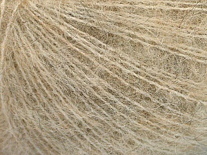 Fiber Content 67% Alpaca Superfine, 6% Elastan, 27% Polyamide, Brand ICE, Cream, Beige, Yarn Thickness 1 SuperFine  Sock, Fingering, Baby, fnt2-55269