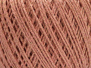 Fiber Content 50% Cotton, 30% Acrylic, 20% Metallic Lurex, Light Pink, Brand ICE, Gold, Yarn Thickness 3 Light  DK, Light, Worsted, fnt2-55302