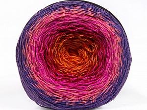 Fiber Content 50% Acrylic, 50% Cotton, Red, Purple, Pink Shades, Orange, Brand ICE, Yarn Thickness 2 Fine  Sport, Baby, fnt2-55321