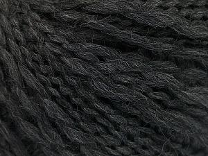 Fiber Content 50% Wool, 40% Acrylic, 10% Polyamide, Brand ICE, Anthracite Black, Yarn Thickness 4 Medium  Worsted, Afghan, Aran, fnt2-55414