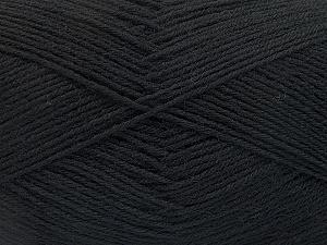 Fiber Content 75% Superwash Wool, 25% Polyamide, Brand ICE, Black, Yarn Thickness 1 SuperFine  Sock, Fingering, Baby, fnt2-55464